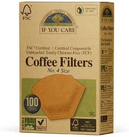 If You Care Coffee Filters, No. 4, 100 count.